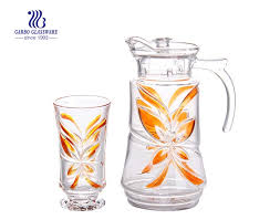 multi color 7pcs glass water drinking