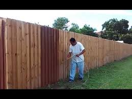 Idea How To Paint A Wood Fence Youtube