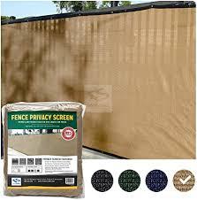 Amazon Com Fencescreen 6ft X 50ft Fence Windscreen Tan Beige 88 Blockage Privacy Screen Mesh Fence Cover 3 Year Warranty 155 Gsm Garden Outdoor