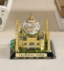gold brass and glass taj mahal by
