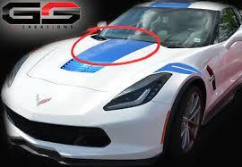 C7 Corvette Tension Blue Hood Stinger Stripe Decal Stingray Grand Sport Only Ebay