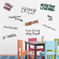 Amazon Com Assorted Inspirational Wall Quotes Decals For Kids Room Motivational Wall Quote Decor Art Stickers Stay Humble Work Hard Never Stop Learning Baby