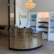 glitz salon reception desk michele