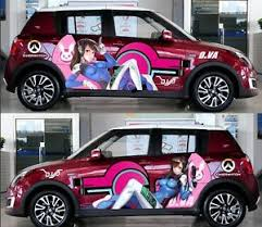Girl Ow D Va Manga Anime Car Door Decal Vinyl Sticker Full Color Fit Any Car Ebay