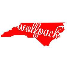 North Carolina State Wolfpack Cutout Decal Shirt Wolf Pack Nc State Wolfpack Nc State University