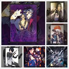 NARUTO Uchiha Brothers Sasuke Itachi Anime manga wall Poster ...