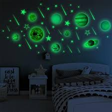 2020 Luminous Pvc Stickers Glow In Dark Ten Planets Bedroom Wall Decal From Homefactoryco 13 77 Dhgate Com