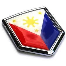 Amazon Com Philippine Flag Philippines Car Auto Chrome Emblem 3d Decal Bumper Sticker Automotive