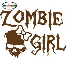2020 Wholesale Zombie Girl Skull Walking Dead Truck Window Vinyl Decal Sticker Car Styling 15cm 11 2cm From Bulangying 24 13 Dhgate Com