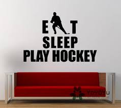 Eat Sleep Play Hockey Sport Game Outdoors Wall Decal Sticker Vinyl Mural Living Bedroom Room Decor Ice Hockey Poster Ny 98 Wall Decals Stickers Decal Stickerposters Posters Aliexpress