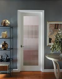 reeded decorative glass interior door