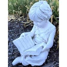 50cm boy reading garden statue boy