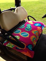 beach essentials golf cart seat cover
