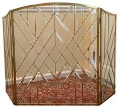 bevel clear glass folding fireplace