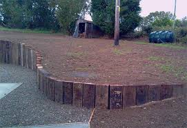 curved retaining wall from railway