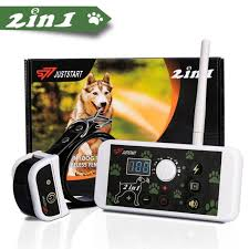 Walfront 270 Yard Wireless Electric Dog Fence Containment System 2 In 1 Pet Fence System Dog Training Collar Waterproof Rechargeable For All Size Dogs Wireless Electric Dog Fence Walmart Com Walmart Com