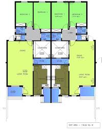 house plans for 2 bedroom semi detached