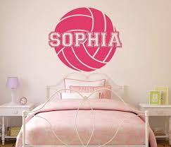 Amazon Com Volleyball Custom Name Vinyl Wall Decal Sticker For Girls Handmade