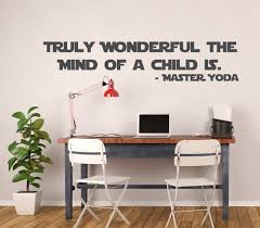 Star Wars Yoda Vinyl Decal Truly Wonderful The Mind Of A Child Is