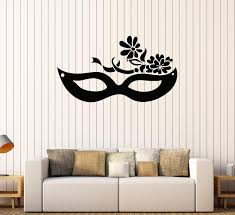 Vinyl Wall Decal Mask Carnival Masquerade Party Stickers Mural Unique Wallstickers4you