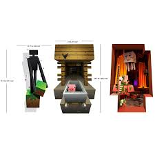 Minecraft Character 3d Vinyl Decal Wall Cling Graphics Mineshaft Enderman Nether Creatures Pig Skeleton Movable Reusable Decoration Mojang Collectible Video Game Merchandise Collector Set Of 3 Walmart Com Walmart Com