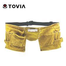 pockets leather tool pouch belt waist