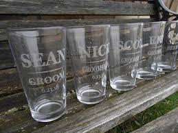 personalized pint glasses wedding