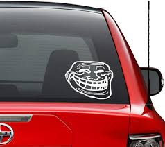 Amazon Com Troll Face Trolling Internet Meme Vinyl Decal Sticker Car Truck Vehicle Bumper Window Wall Decor Helmet Motorcycle And More Size 7 Inch 18 Cm Wide Color Gloss White Home Kitchen