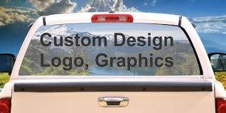 Custom Design Your Own Rear Window Mural Decal Or Tint For Etsy