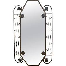 1930 s french art deco iron wall mirror