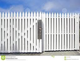 Picket Fence Under Blue Sky Stock Image Image Of Wood White 121974921