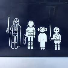 Thinkgeek Star Wars Family Car Decals Review The Gadgeteer