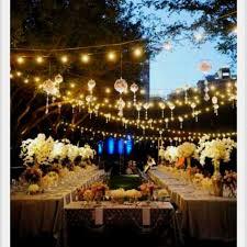 garden light ideas for a party punkie