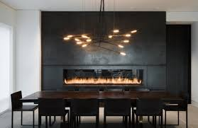 chic linear fireplace ideas modern