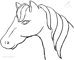 1001 Kleurplaten Dieren Paarden Kleurplaat Paard