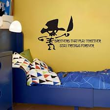 Amazon Com Flywalld Walk The Plank Pirate Theme Wall Decal Vinyl Quotes Sticker For Kids Boys Room Nursery Cute Decor Brother That Play Together Stay Friends Forever Home Kitchen