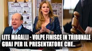 Lite Giancarlo Magalli - Adriana Volpe: guai per il presentatore ...