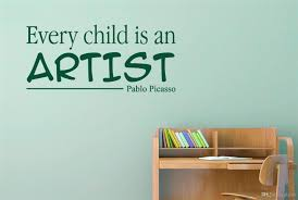Every Child Is An Artist Pablo Picasso Vinyl Quotes Wall Stickers Art Decals For Kids Room Decor Wall Stickers Large Wall Stickers Letters From Flylife 3 62 Dhgate Com