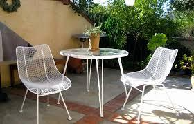 patio ideas white wrought iron
