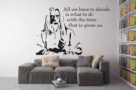 Gandalf Head Serious Pattern Art Wall Decals With Quotes The Hobbit Famous Movies Creative Wall Murals Special Home Decor Wall Decals Home Decorwall Art Decals Aliexpress