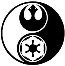 Amazon Com Vinyl Sticker Decal Star Wars Ying And Yang Rogue One Sticker Laptop Car Truck Window Bumper Notebook Vinyl Decal Sma5432 Home Kitchen