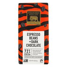 dark chocolate bar 72 cocoa espresso