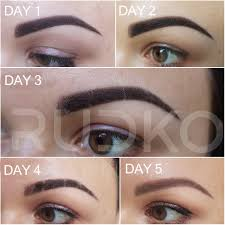 semi permanent eyebrow makeup aftercare