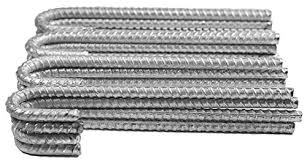Pinnacle Mercantile 17 Inch Plant Fence Post Stakes Extra Heavy Duty Rebar Galvanized 17 Inch 1 2 Inch Round Set 4 Patio Lawn Garden Plant Cages Supports