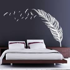 Birds Flying Feather Wall Sticker Instyle Walls Llc Wall Decals For Bedroom Modern Room Decor Wall Stickers Home Decor