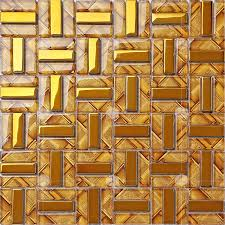 plated gold glass mosaic tiles diy