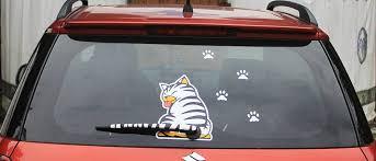 Funny Cat Window Decal Wiper Blade Sticker Thepurrshop