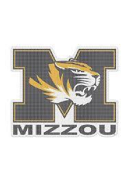 Missouri Tigers 8x8 Auto Decal Black 1224