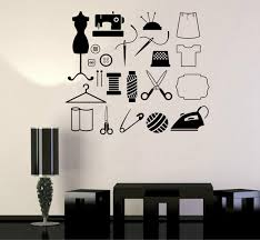 Fashion Design Tailor Atelier Wall Stickers Sewing For Women Wall Decals Removable High Quality Hot Sale Wallpaper Wish