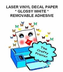Laser Printer Removable Adhesive Vinyl Decal Paper 5 Sheets Glossy White Ebay